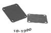 Blokkerings plate/pakning. fra Mercruiser Riser